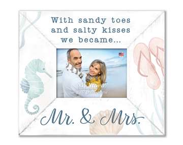 77209 WITH SANDY TOES AND SALTY KISSES - 10X12 FRAME (4X6 PHOTO)